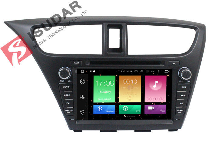 Full RCA Output Android Car DVD Player Honda Civic Touch Screen Head Unit Support Apps