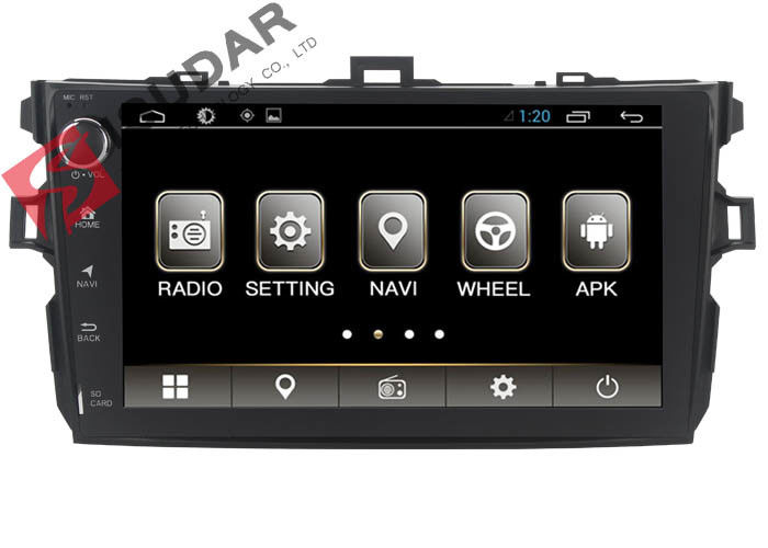 New Allwinner T3 Android Auto Car Stereo Toyota Corolla Head Unit With 4G WIFI