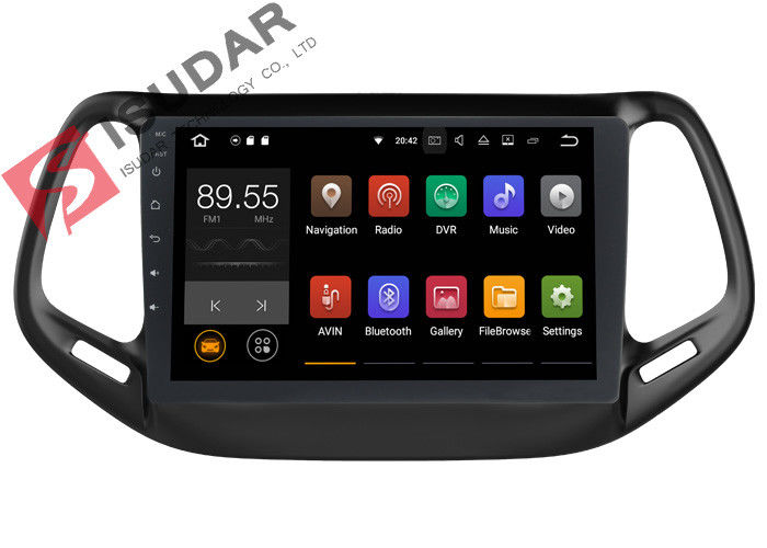 Dual Zone Jeep Compass Head Unit , Touch Screen Radio Navigation System